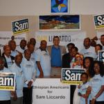 Ethiopian Americans in San Jose for Sam Liccardo