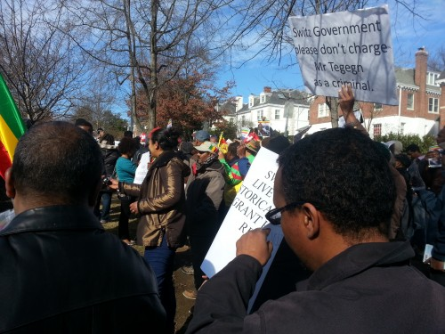 Ethiopians hold demonstration at Swiss embassy in DC