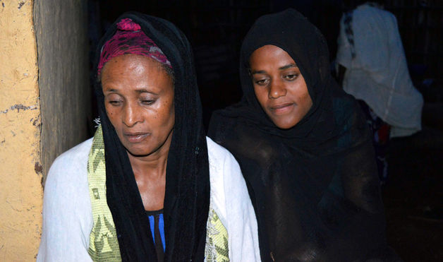 The mother and sister of Getahun Abraham, an Ethiopian activist who committed suicide a month before May 24 elections