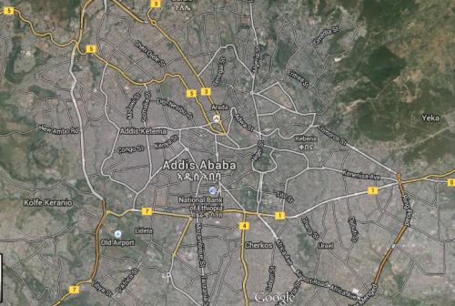 Google Map of Addis Ababa