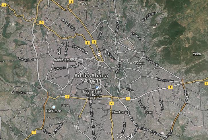 Google Map of Addis Ababa | Ethiopian Review - Ethiopian News